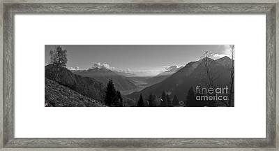 The Valley Framed Print by Marco Affini