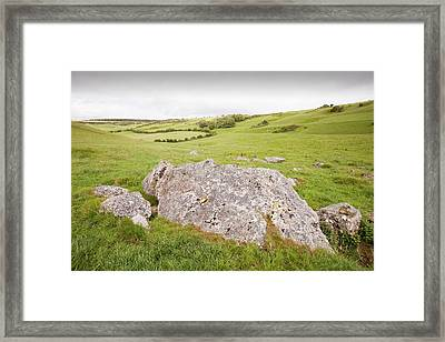 The Valley Of Stones Near Portesham Framed Print by Ashley Cooper