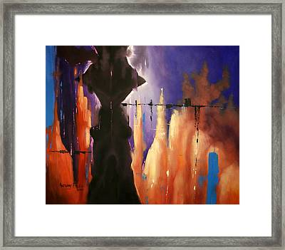 The Valley Of The Shadow Of Death Framed Print