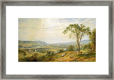 The Valley Of Wyoming Framed Print by Jasper Francis Cropsey