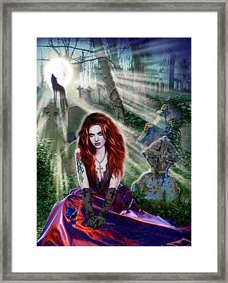 The Vampiress Framed Print