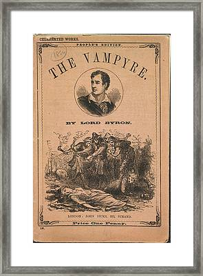 The Vampyre Framed Print by British Library