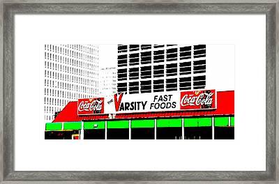 The Varsity Atlanta Pop Art Framed Print