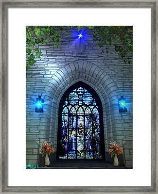 The Vatican Door Framed Print by Michael Rucker