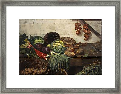 The Vegetable Stall Framed Print by Mountain Dreams