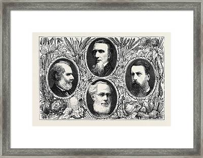 The Vegetarian System, Some Leading Members Framed Print by English School