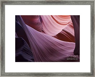 The Veil At Antelope Canyon Framed Print by Alex Cassels