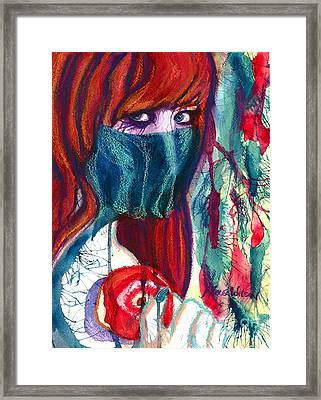 The Veil Framed Print by D Renee Wilson