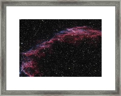 The Veil Nebula Framed Print by Brian Peterson
