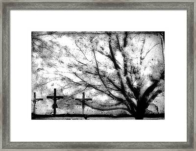 Framed Print featuring the painting The Veil Was Torn by Gray  Artus