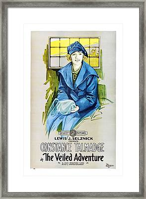 The Veiled Adventure, Constance Framed Print by Everett