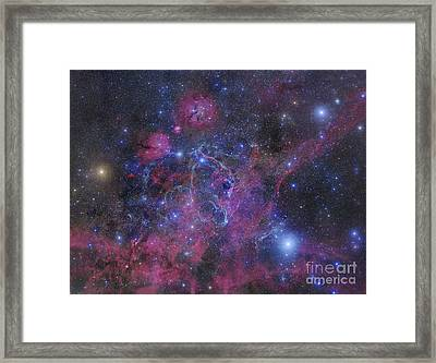 The Vela Supernova Remnant Framed Print by Robert Gendler