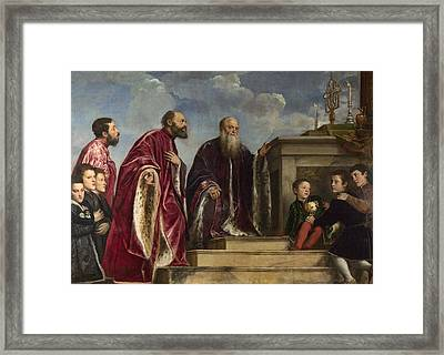 The Vendramin Family Framed Print by Titian