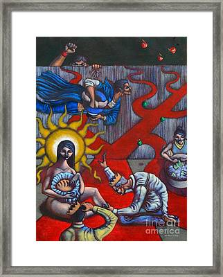 The Veneration Of Counterfeit Gods Framed Print by Paul Hilario