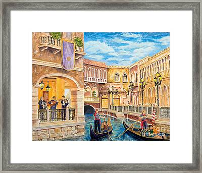Framed Print featuring the painting The Venetian Canal  by Vicki  Housel