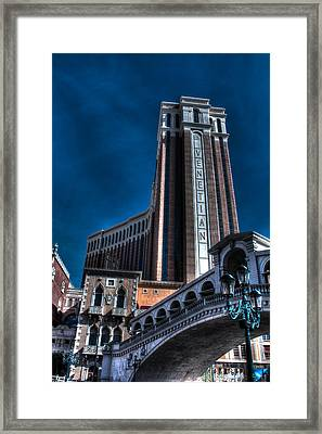 The Venetian Las Vegas Framed Print by Andrew Pacheco