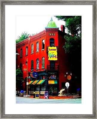 The Venice Cafe' Edited Framed Print
