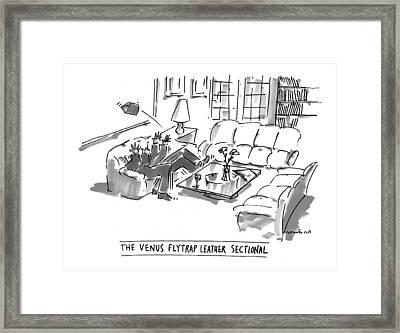 The Venus Flytrap Leather Sectional Framed Print