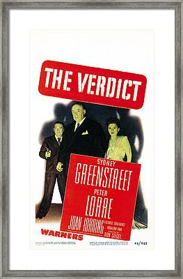 The Verdict, Us Poster Art, From Left Framed Print