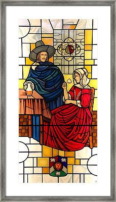 The Vermeer Framed Print by Gilroy Stained Glass