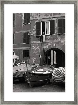 The Vernazza Observer Framed Print by William Fields