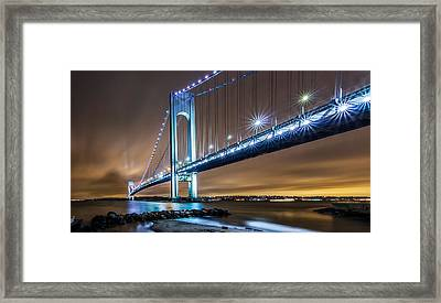 Framed Print featuring the photograph The Verrazano by Anthony Fields