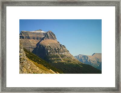 The Very First Snow In Montana In September Framed Print by Jeff Swan