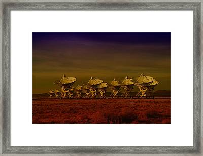 The Very Large Array In New Mexico Framed Print by Jeff Swan
