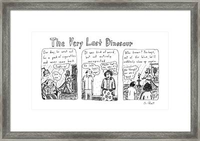 The Very Last Dinosaur: Title Framed Print by Roz Chast