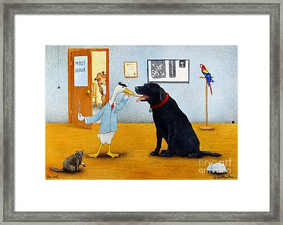 The Vet... Framed Print by Will Bullas