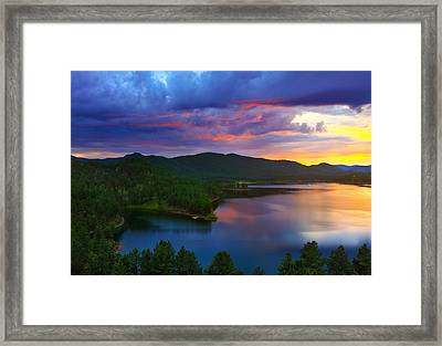The Vibrant Storm Framed Print by Kadek Susanto