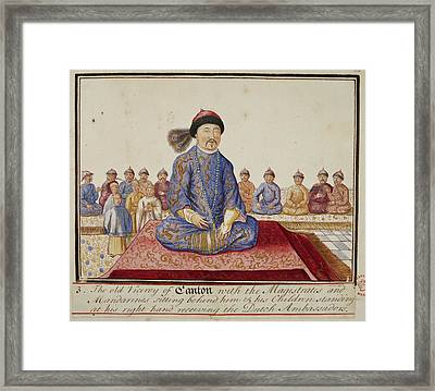 The Viceroy Of Canton Framed Print by British Library