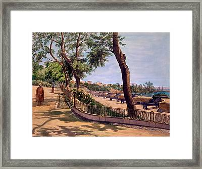 The Victoria Battery, Gibraltar, Print Framed Print by Captain J. M. Carter