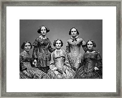 The Victorian Clark Sisters C. 1850 Framed Print by Daniel Hagerman