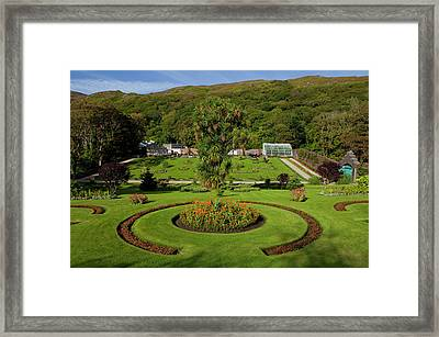 The Victorian Walled Garden, Kylemore Framed Print by Panoramic Images