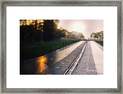Framed Print featuring the photograph The Vietnam Wall Memorial  by John S