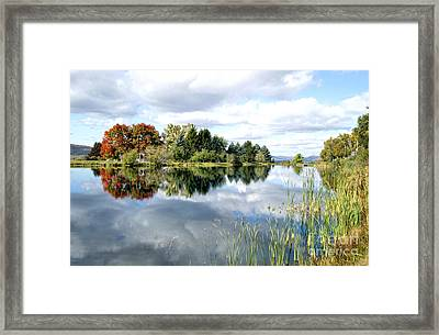 The View Across The Lake Framed Print