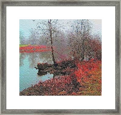 The View Across The Rideau On A Foggy Morning Framed Print by Mario Carini