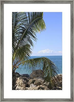 Key West Ocean View Framed Print
