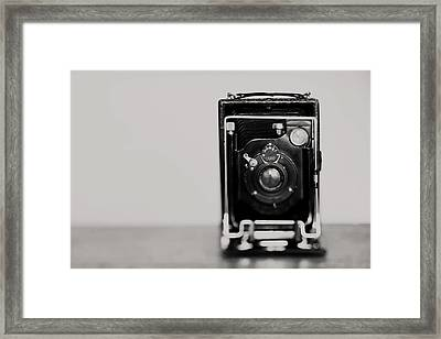 The View Camera ... - Fine Art Black And White Still Life Photograph Framed Print