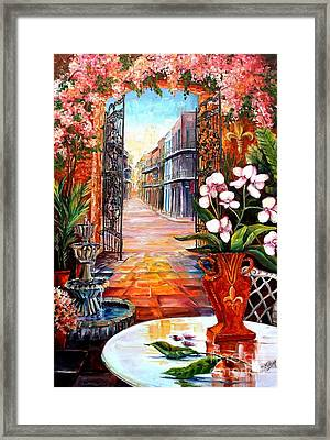 The View From A Courtyard Framed Print by Diane Millsap