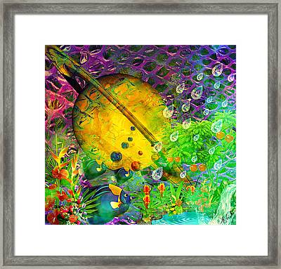 The View From A Moon Framed Print by Ally  White