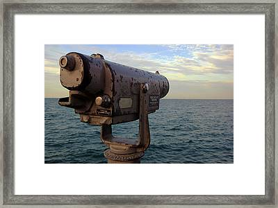 Framed Print featuring the photograph The View From Anna Maria by Daniel Woodrum