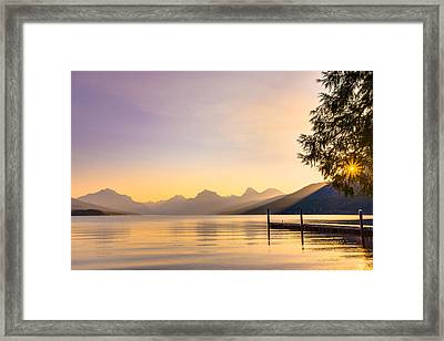 The View From Apgar Framed Print