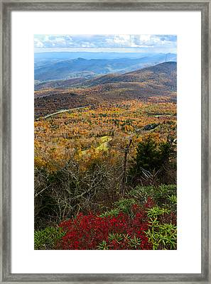 The View From Grandfather Mountain Framed Print by Andres Leon