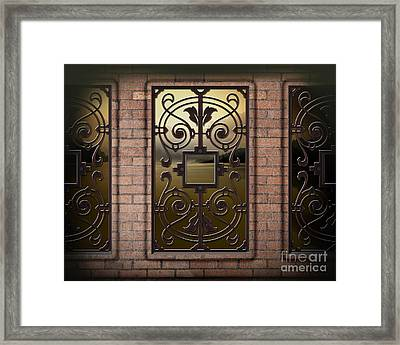 The View From Here - Evening Version Framed Print by Bedros Awak