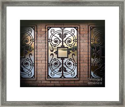 The View From Here - Morning Version Framed Print
