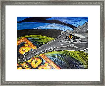 The View From Reptile Lagoon Framed Print