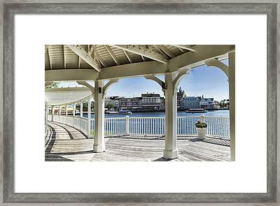 The View From The Boardwalk Gazebo At Disney World Framed Print
