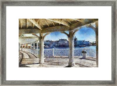 The View From The Boardwalk Gazebo Wdw 02 Photo Art Framed Print